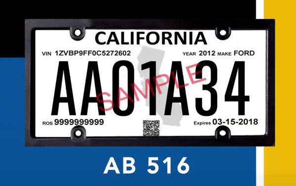 Temporary License Plate