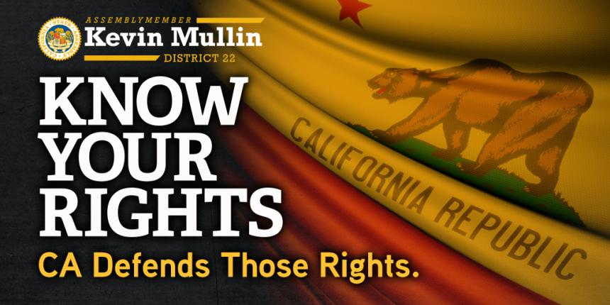 Assemblyman Mullin Know Your Rights Social Media Graphic