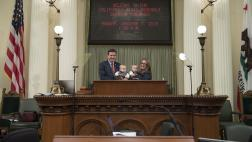 Assemblymember Mullin being sworn in at the CA State Capitol December 2018